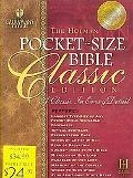 Pocket-Size Bible Classic Edition Holman Christian Standard Bible, British Tan, Bonded Leather