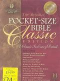 Pocket-Size Bible Classic Edition Holman Christian Standard Bible, Burgundy, Glazed Calf Bon...