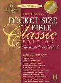 Pocket-Size Bible Classic Edition Holman Christian Standard Bible, Burgundy, Bonded Leather,...