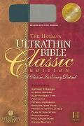Holman Ultrathin Bible Classic Edition Holman Christian Standard Duo-tone, Blue-gray, Bonded...