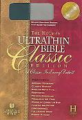 Holman Ultrathin Bible Classic Edition Holman Christian Standard,Slide Tab, Blue-gray, Bonde...