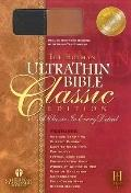 Holman Ultrathin Bible Classic Edition Deluxe Duo-tone, Slide Tab, Black-tan Suede, Bonded L...