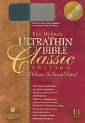 Holman Ultrathin Bible Classic Edition Holman Christian Standard , Slide Tab, Blue-gray, Bon...