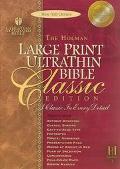 Holman Bible Ultrathin Large Print Reference Holman Christian Standard, Ultra Thin, Slide Ta...