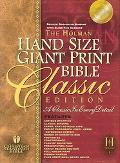 Holman Christian Standard Bible Black Duo-Tone Bonded Leather Index, Hand Size Giant Print R...