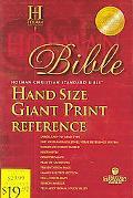 Holman Christian Standard Bible Blue Imitation Leather, Hand Size Giant Print Reference Bible