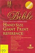 Holy Bible Holman Christian Standard Bible, Burgundy Imitation Leather, Hand Size Giant Prin...