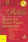 Holy Bible Holman Christian Standard, Burgundy Imitation Leathe,r Index, Hand Size Giant Pri...
