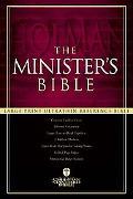 Ministers Bible Holman Christian Standard, Black Genuine Leather, Single Column, Wide Margins