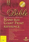 Holman Christian Standard Bible Black Bonded Leather, Hand Size Giant Print Reference Bible