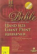 Holman CSB Hand Size Giant Print Reference Bible, Burgundy Bonded Leather