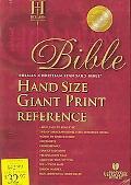 Holman Christian Standard Bible Black Bonded Leather Index, Hand Size Giant Print Reference ...