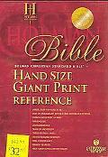 Holy Bible Holman Christian Standard Bible, Burgundy Bonded Leather, Hand Size Giant Print R...