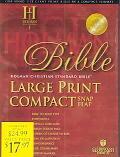 Holy Bible Holman Christian Standard Bible, Burgundy, Bonded Leather, Large Print Compact, S...