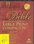 Holy Bible Holman Christian Standard Bible, Blue, Bonded Leather Bible Snap, Large Print Com...