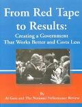 From Red Tape to Results Creating a Government That Works Better & Costs Less