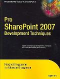 Pro Sharepoint 2007 Development Techniques