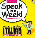 Italian Week Three Speak in a Week!