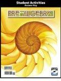 Pre-algebra, Student Activities Manual Teacher's Edition with CD