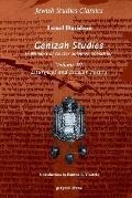 Genizah Studies in Memory of Doctor Solomon Schechter Liturgical and Secular Poerty