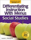 Differentiating Instruction With Menus Middle School: Social Studies