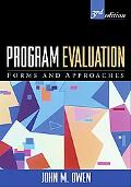 Program Evaluation Forms And Approaches