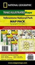 Yellowstone National Park Sectional Map Pack Bundle: Trails Illustated - Recreation Map Bund...
