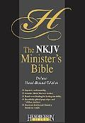 Holy Bible New King James Version, Black Morocco Leather, Minister's, Deluxe