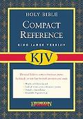 Holy Bible King James Version, Black Bonded Leather, Compact Reference Bible