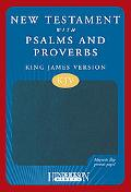 KJV New Testament with Psalms and Proverbs, Blue with Magnetic Closure