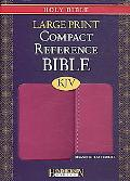 Holy Bible: King James Version, Berry, Imitation Leather, Large Print Compact Reference Bibl...