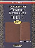 Holy Bible: King James Version, Espresso, Imitation Leather, Large Print Compact Reference B...