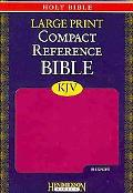 KJV Large Print Compact Reference Bible: Berry Without Flap