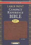 KJV Large Print Compact Reference Bible: Espresso Without Flap
