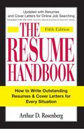 Resume Handbook How to Write Outstanding Resumes and Cover Letters for Every Situation