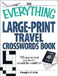 Everything Large Print Travel Crosswords Book