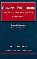 Criminal Procedure - 2007 Supplement