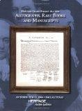Heritage Grand Format Auction of Autographs, Rare Books and Manuscripts #629