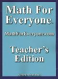 Math for Everyone Teachers Edition