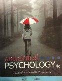 Title: Abnormal Psychology 4th Edition