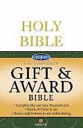 Kjv Gift & Award Bible - White