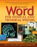 Microsoft Word for Medical and Technical Writers