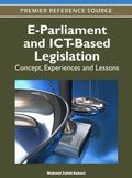 E-Parliament and ICT-Based Legislation : Concept, Experiences and Lessons