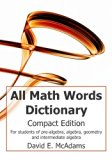 All Math Words Dictionary: Compact Edition