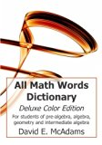 All Math Words Dictionary: Deluxe Color Edition