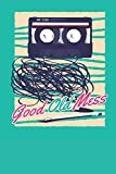 Good Old Mess: Blank Lined Notebook for Cassette   6x9 Inch   120 Pages
