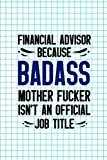 Financial Advisor Because Badass Mother Fucker Isn't An Official Job Title: Accountant Noteb...