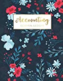 Accounting General Ledger: Red and Blue Flowers Cover | Financial Accounting Ledger for Smal...