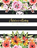 Accounting General Ledger: Flower Watecolor Cover | Financial Accounting Ledger for Small Bu...