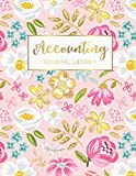 Accounting General Ledger: Colorful Flowers Cover | 6 Column Account Record Book Journal Not...